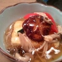 豆腐と有機野菜の揚げ出し