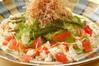 海ブドウと豆腐のサラダ