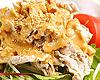 豚しゃぶと水菜とアボカドのごまダレサラダ