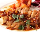 地鶏のソテーグレービーソース