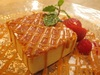 焦がしキャラメルの濃厚チーズケーキ