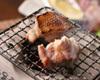 比内地鶏もも肉の天然塩焼き 赤柚子胡椒添え