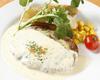 チーズとタルタルソースのハンバーグ