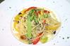 季節野菜たっぷりのスパゲッティーペペロンチーノ