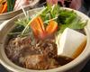 牛すじと水菜のハリハリ鍋