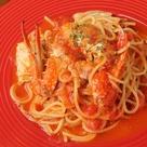 渡り蟹のトマトソースパスタ