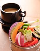 有機野菜の蒸しバーニャカウダ
