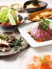彩り野菜バーニャカウダとローストビーフコース