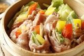イベリコ豚の蒸ししゃぶサラダ