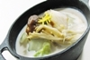 鱈と白菜の豆乳煮 味噌と柚子の風味