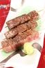 霜降り仙台牛の串焼き