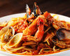 海の幸とトマトのスパゲティー