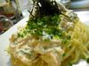 豆腐とオクラの冷製パスタ