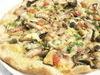 森のキノコのピッツァ