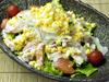 海老とサーモンのシーザーサラダ