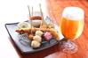 大根おろしと生姜の入ったお出汁で食べるさっぱりとした串揚げ。