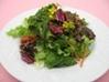 春の菜園サラダ菜の花添え