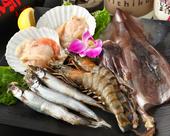 市場直送の新鮮な魚介