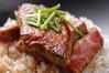フォアグラ神戸牛丼セット