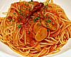 ピリッと辛味のきいたトマトソースのフェデリーニ