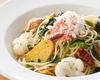 ズワイ蟹と冬野菜のペペロンチーノ