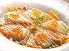 とろ鮭、いくら、ホタテ貝柱の北海カルパッチョ