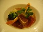 前菜 新鮮な旬の野菜と魚介類のオードブルサラダ