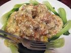 鶏唐揚げの上海蟹肉あんかけ