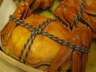 活き上海蟹の姿蒸し