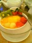 マンゴとフルーツ入り豆腐花