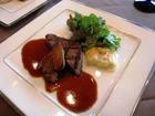和牛フィレ肉のグリルと鴨フォアグラのソテー