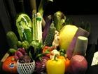 入り口にあるお野菜の数々
