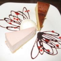 イチゴのレアチーズケーキ