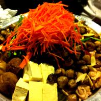 丹波地鶏のハラミと炙りぼんじりの鍋