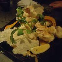 スルメイカの天ぷら 肝マヨディップ