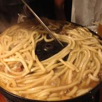 肉汁で作る焼きうどん