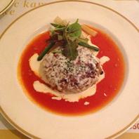 チーズフォンデュハンバーグ トマトソース