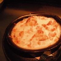 サーモンとタロ芋のほくほくチャウダーグラタン