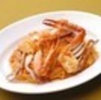 渡り蟹のリングイネ トマトクリームソース