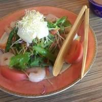 海老と貝柱のアスパラサラダ