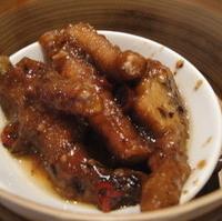 鶏足の黒豆ソース蒸し
