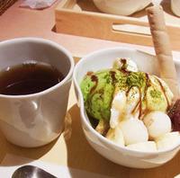 あずき白玉の抹茶ボウルパフェ