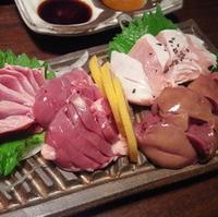朝〆 京赤地鶏のお造り盛り合わせ