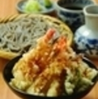 海老天丼とおそばのセット