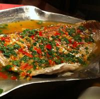 白身魚のスープ蒸し