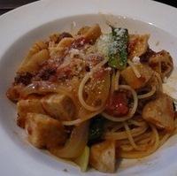 牛挽肉と秋野菜のトマトラグーソーススパゲッティ