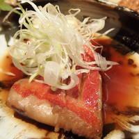 金目鯛と揚げ豆腐の炊き合わせ