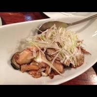 牡蠣と椎茸のガーリック炒め