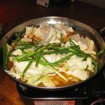 刻風 醤油モツ鍋