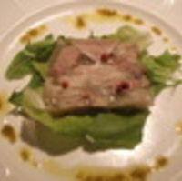国産黒豚のコラーゲンゼリー寄せ オリーブのソース